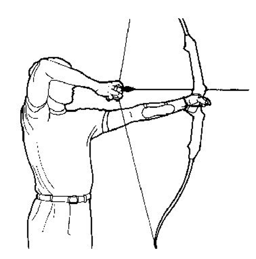 archery basics - points to the cross rondo form diagram archery shooting form diagram